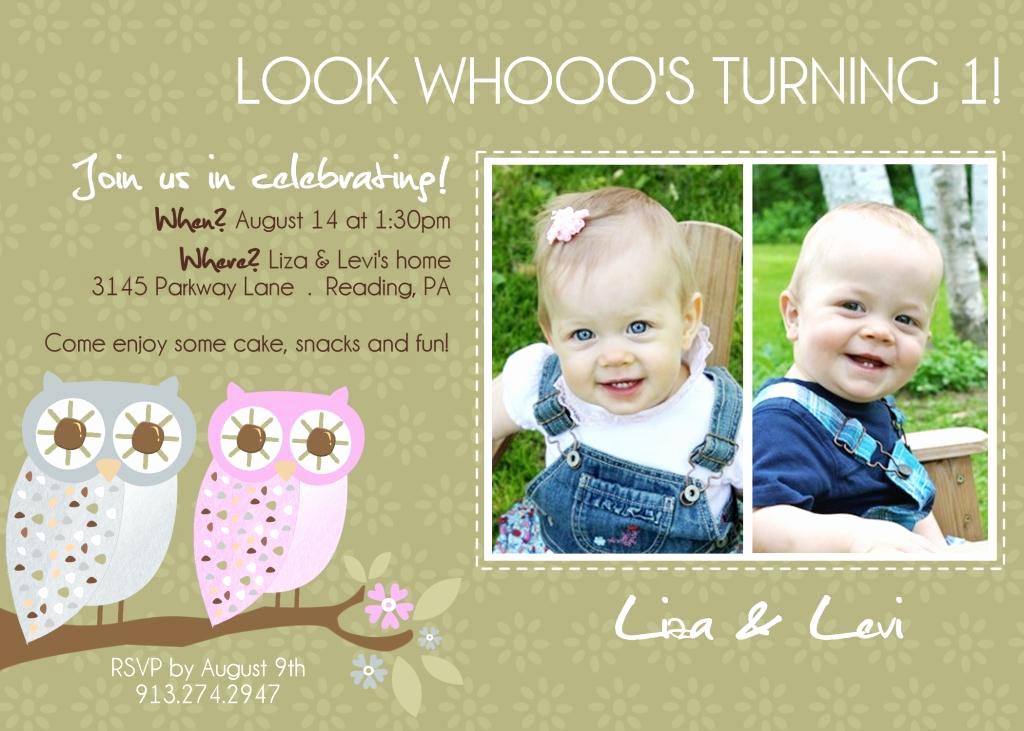 First Birthday Invitation Wording Elegant Items Similar to Twins 1st Birthday Invitation You Print