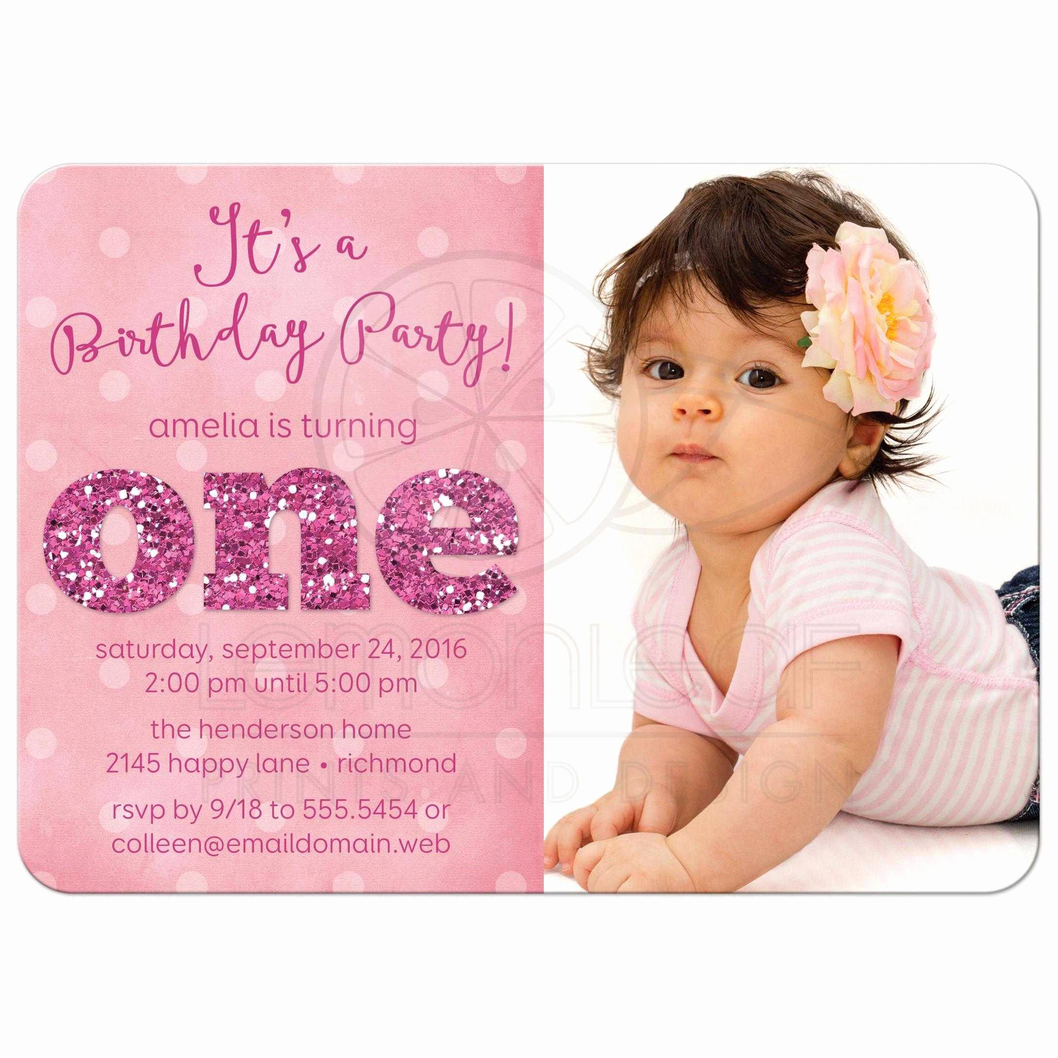 First Birthday Invitation Wording Unique ist Birthday Party Invitations Sparkle E