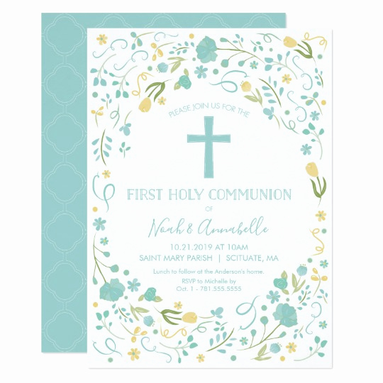 First Communion Invitation Girl Fresh First Holy Munion Invitation Boy and or Girl