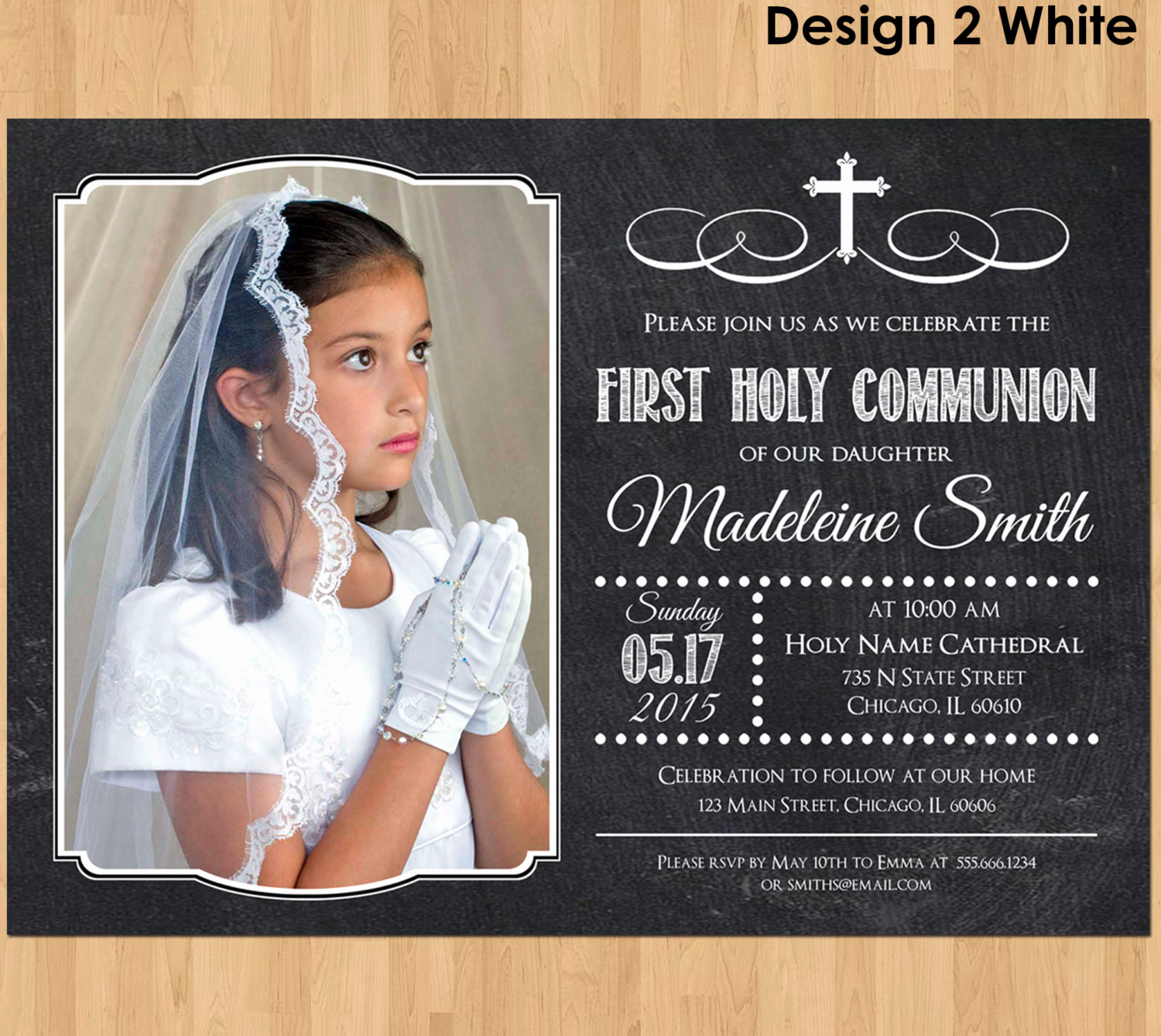 First Communion Invitation Girl Luxury First Munion Invitations for Girls First Munion