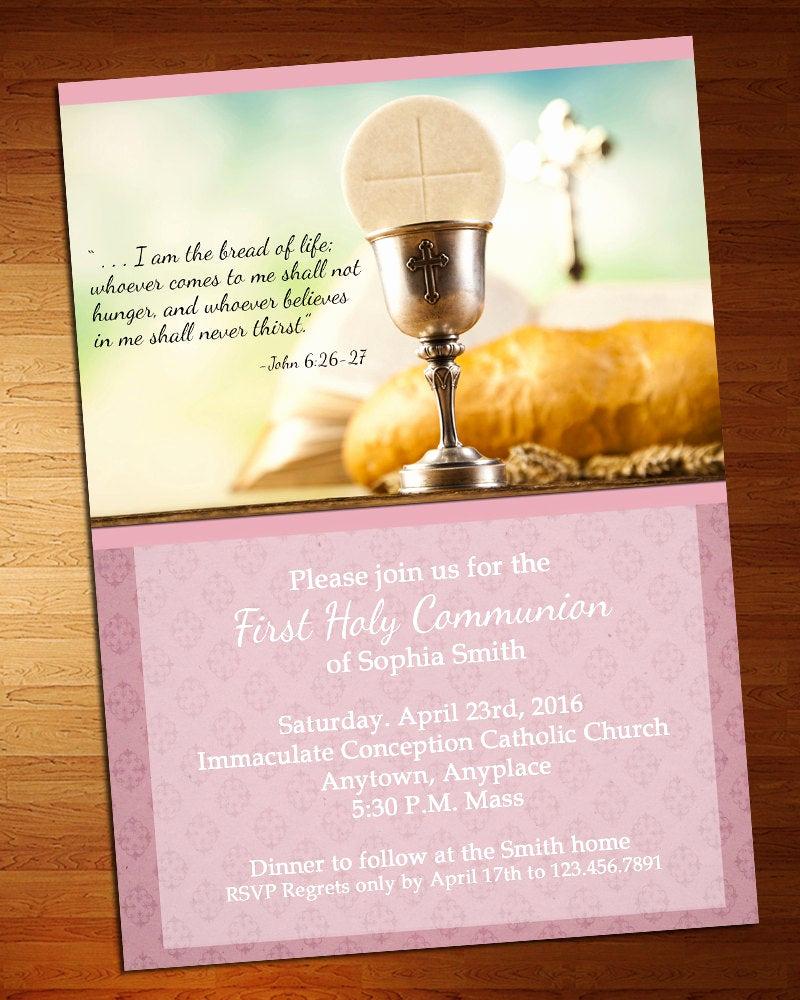 First Communion Invitation Girl Unique My First Munion Invitation Girl First Munion Invite