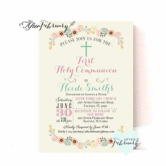 First Communion Invitation Ideas Awesome Best 25 Munion Invitations Ideas On Pinterest