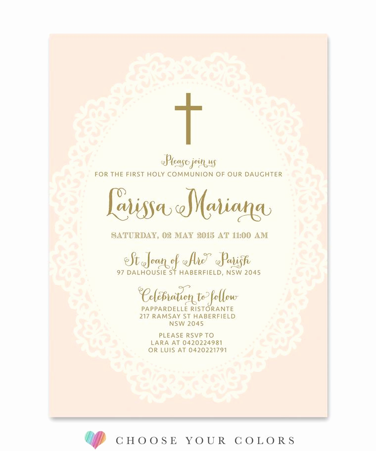 First Communion Invitation Ideas Elegant First Munion Invitations Sea Paper Designs