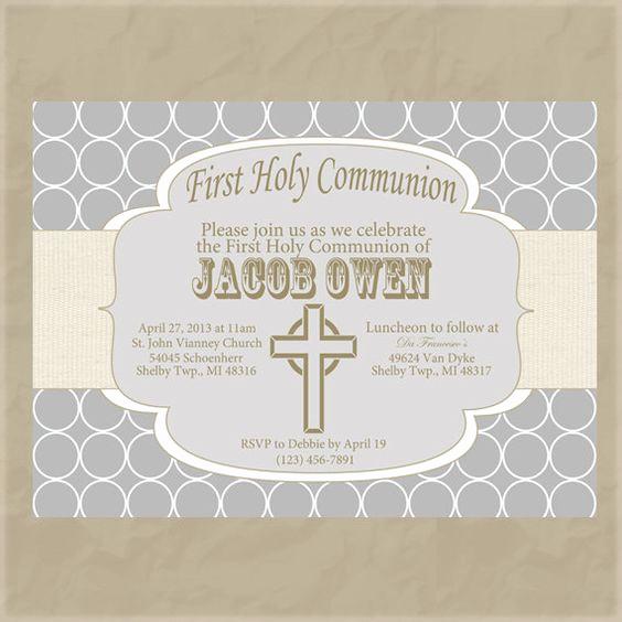 First Communion Invitation Ideas Fresh Boy First Munion Invitation