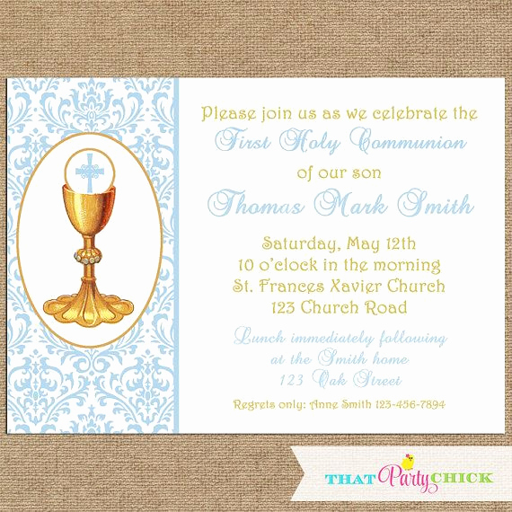 First Communion Invitation Ideas Lovely 37 Best Images About First Munion Celebration Ideas On