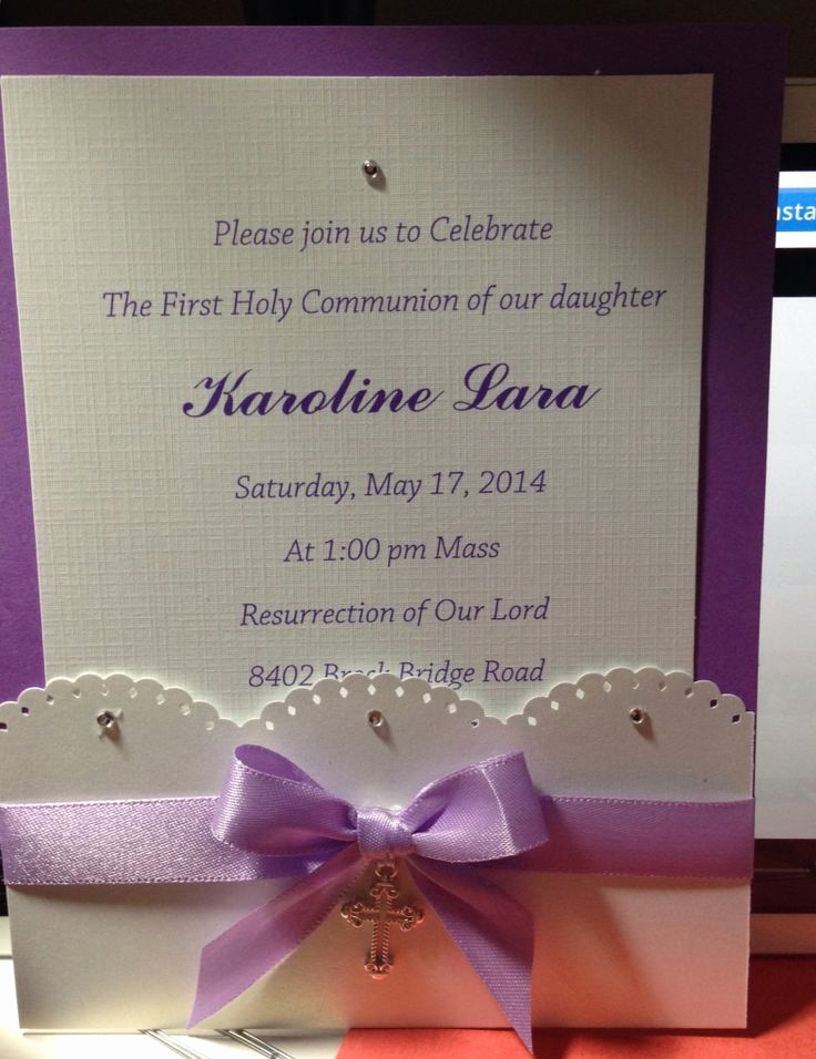 First Communion Invitation Ideas Luxury First Munion Invitation First Munion