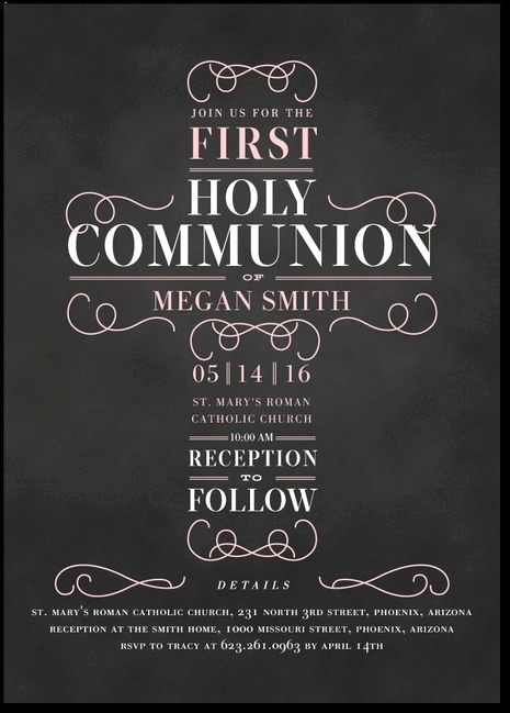 First Communion Invitation Ideas New 25 Best Ideas About Munion Invitations On Pinterest
