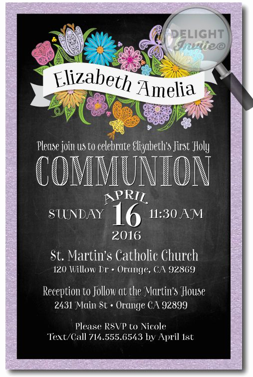 First Communion Invitation Ideas Unique Best 25 Munion Invitations Ideas On Pinterest
