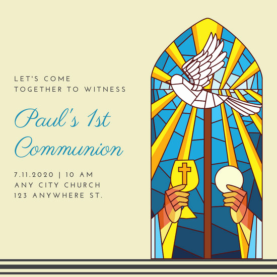 First Communion Invitation Template Beautiful Customize 320 First Munion Invitation Templates Online