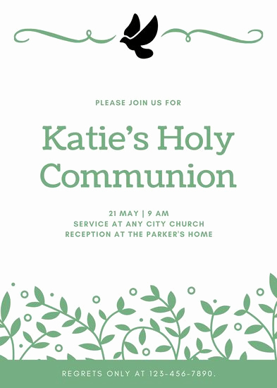 First Communion Invitation Template Beautiful Customize 351 First Munion Invitation Templates Online