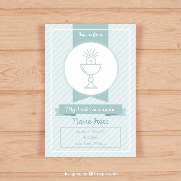 First Communion Invitation Template Best Of First Munion Invitation Template Vector