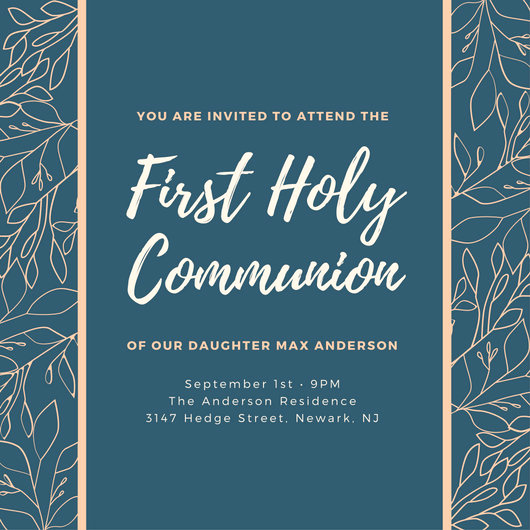 First Communion Invitation Template Best Of First Munion Invitation Templates Canva