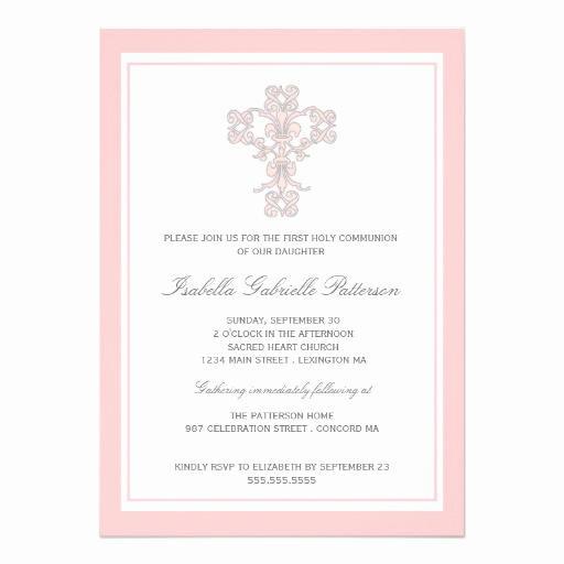 First Communion Invitation Template Best Of Personalized Catholic Invitations