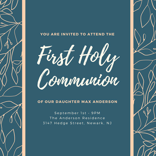 First Communion Invitation Template Inspirational Customize 198 First Munion Invitation Templates Online