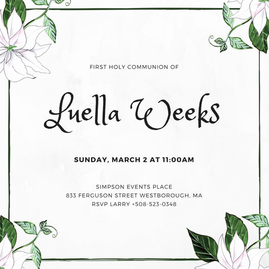 First Communion Invitation Template Lovely First Munion Invitation Templates Canva