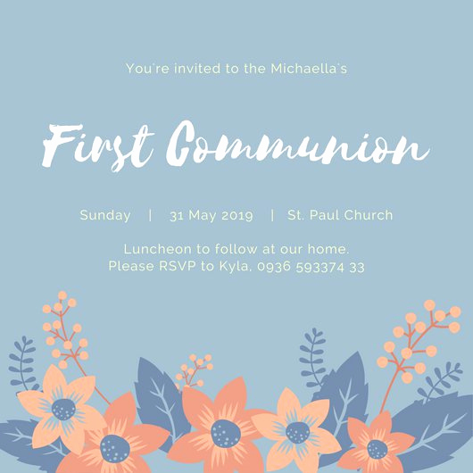 First Communion Invitation Templates Best Of First Munion Invitation Templates Canva