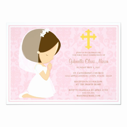 First Communion Invitation Templates Elegant First Holy Munion Invitation
