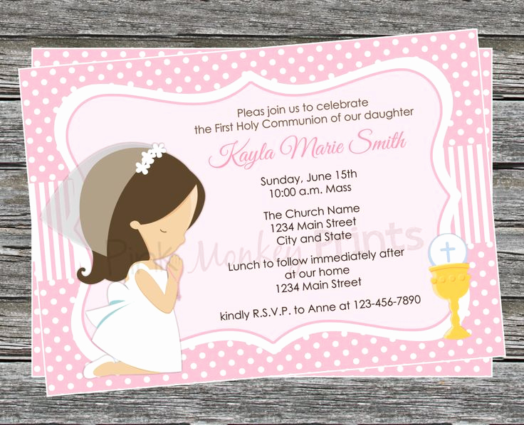 First Communion Invitation Templates Inspirational 25 Unique First Munion Invitations Ideas On Pinterest