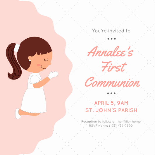 First Communion Invitation Templates Inspirational Customize 2 371 First Munion Invitation Templates