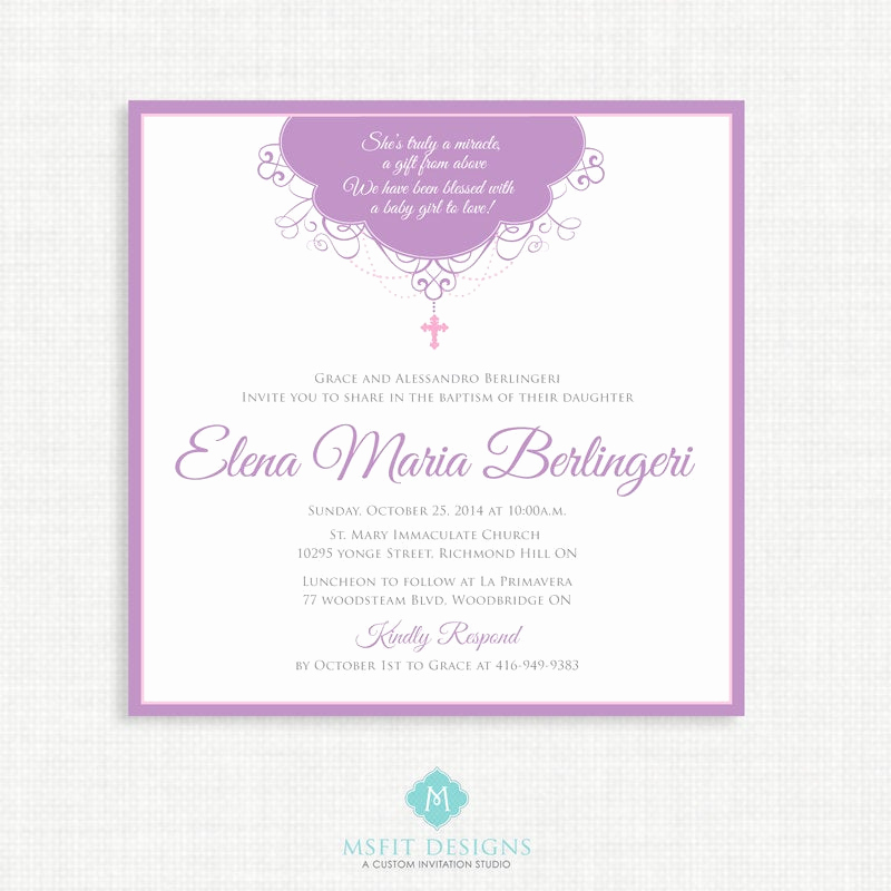 First Communion Invitation Templates Inspirational Printable Baptism Invitation Girl Baptism Invitation Baby