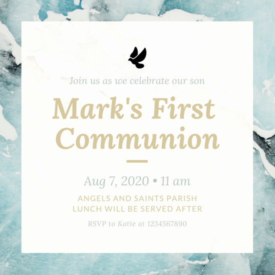 First Communion Invitation Templates Luxury Customize 351 First Munion Invitation Templates Online