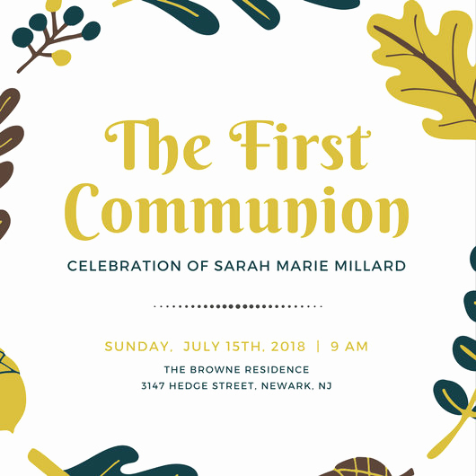 First Communion Invitation Templates New First Munion Invitation Templates Canva