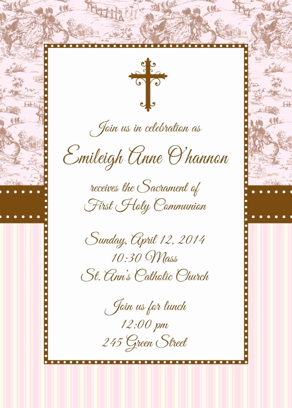 First Communion Invitation Templates Unique First Holy Munion Invitation First Munion Invitation