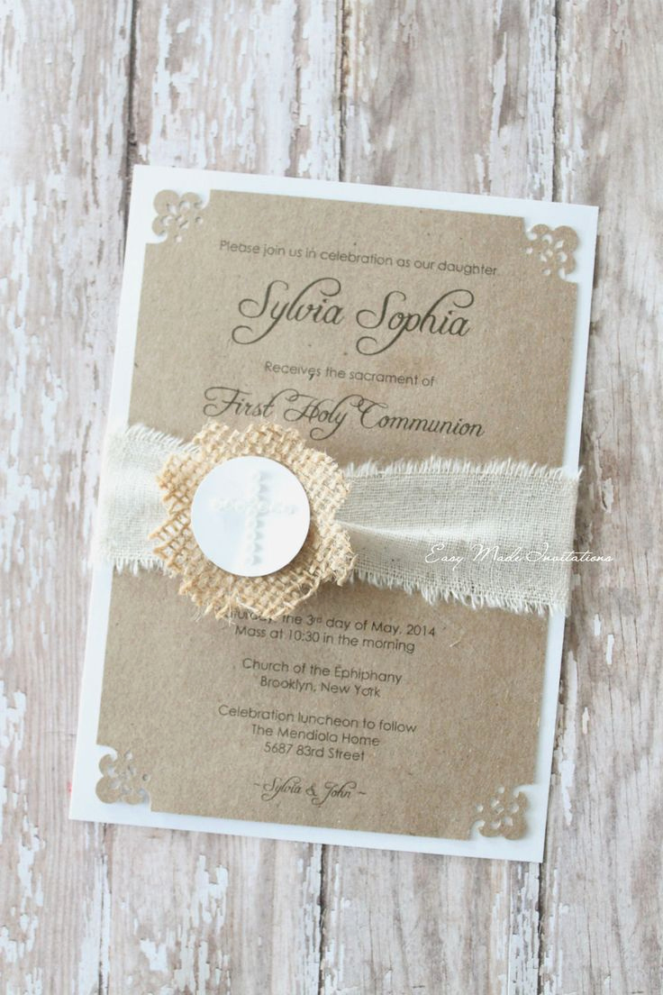 First Communion Invitation Wording Best Of Best 25 Munion Invitations Ideas On Pinterest