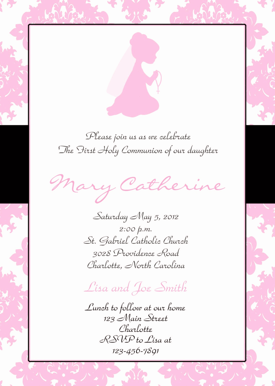 First Communion Invitation Wording Best Of First Holy Munion Invitation Religious Invitation