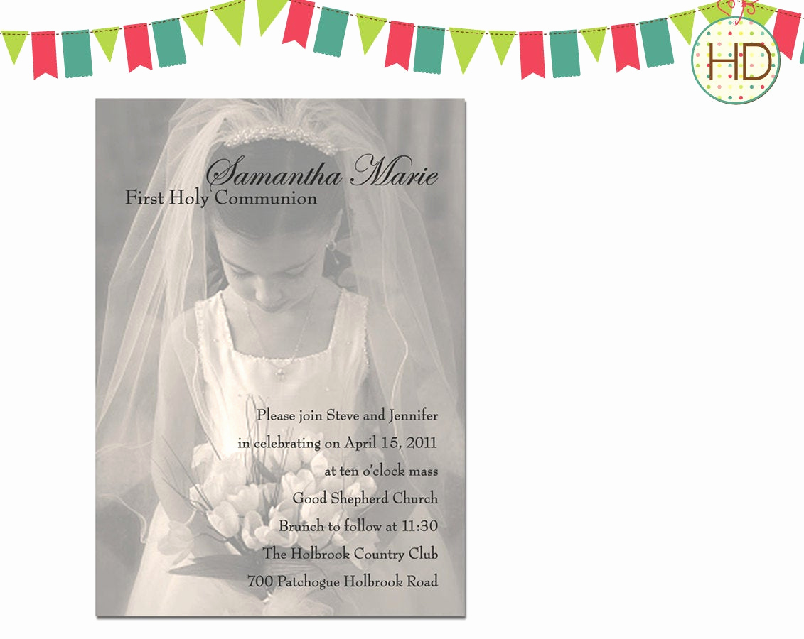 First Communion Invitation Wording Best Of Lighting
