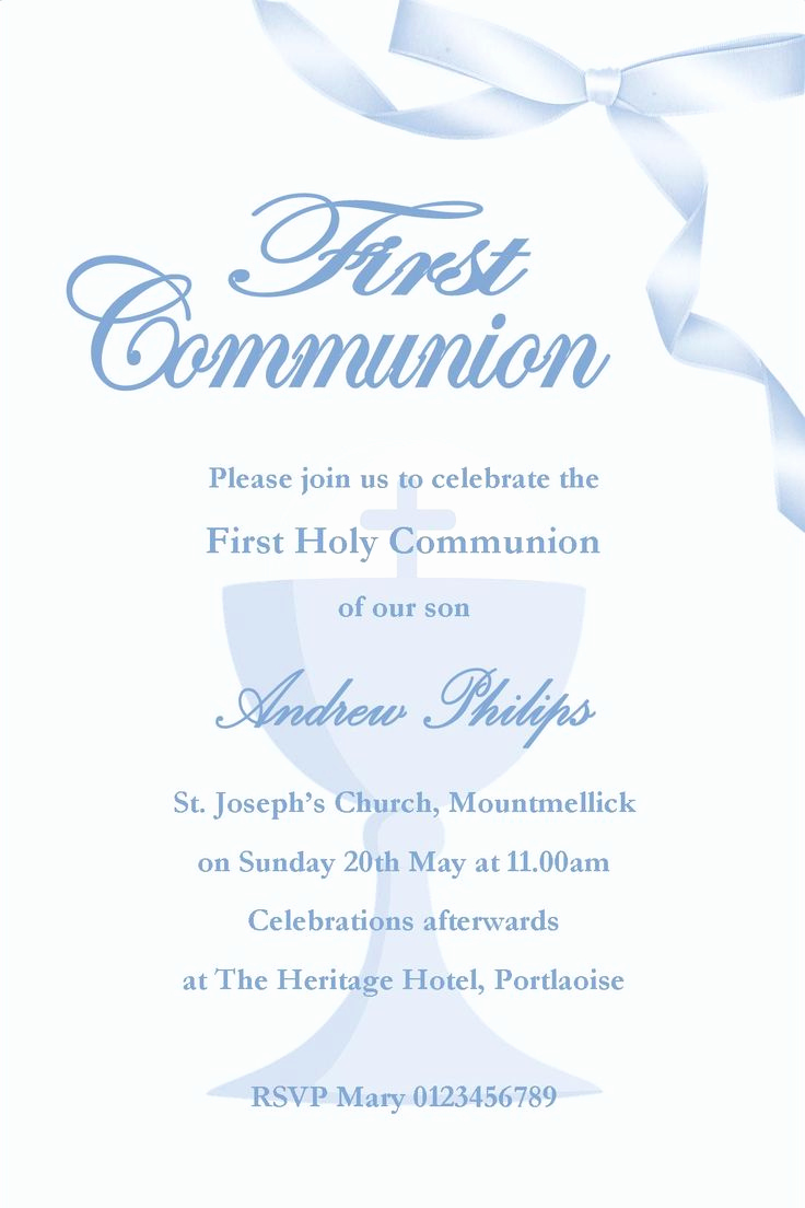 First Communion Invitation Wording Inspirational 1000 Ideas About Munion Invitations On Pinterest