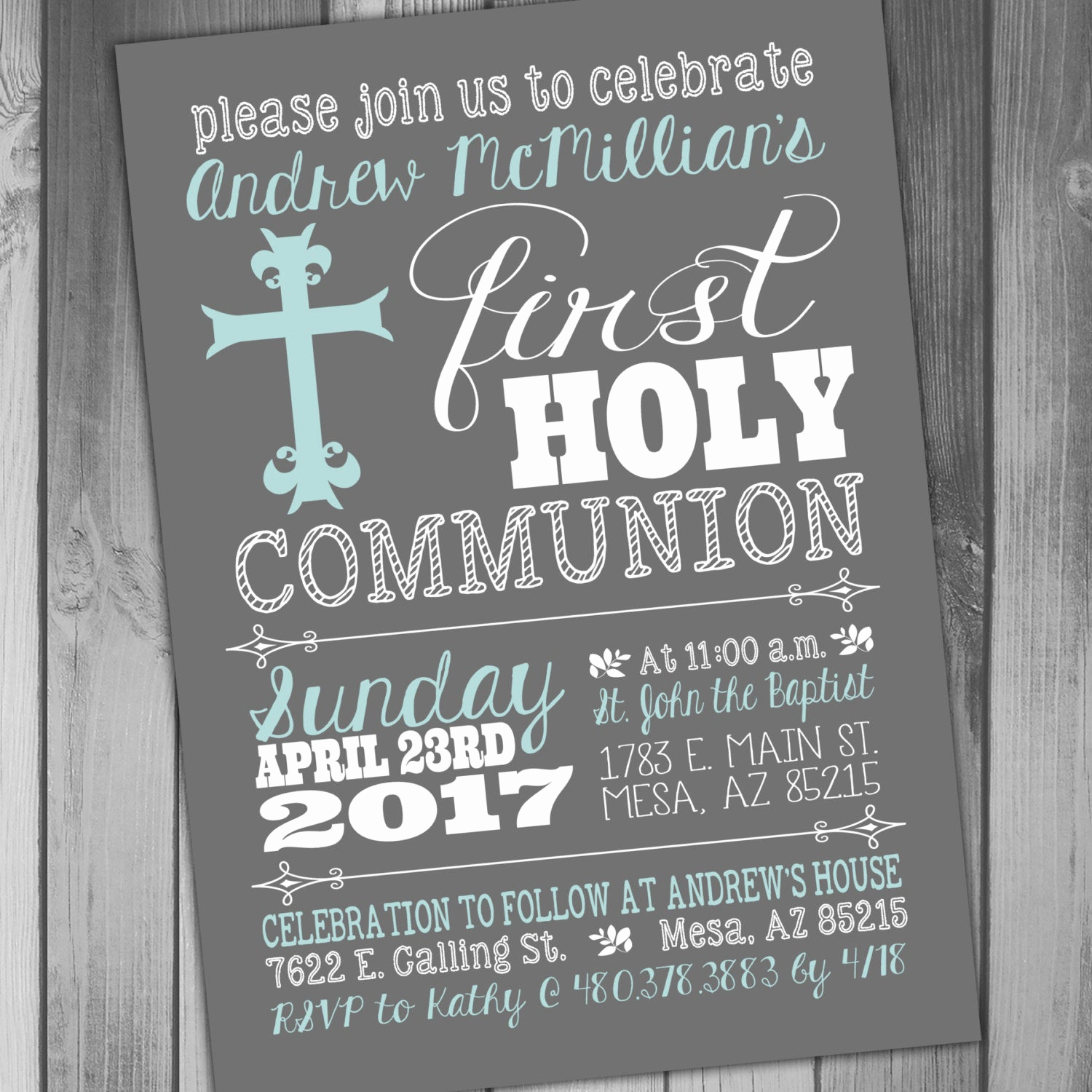 First Communion Invitation Wording Lovely First Holy Munion Invitation 1st Munion Invitation
