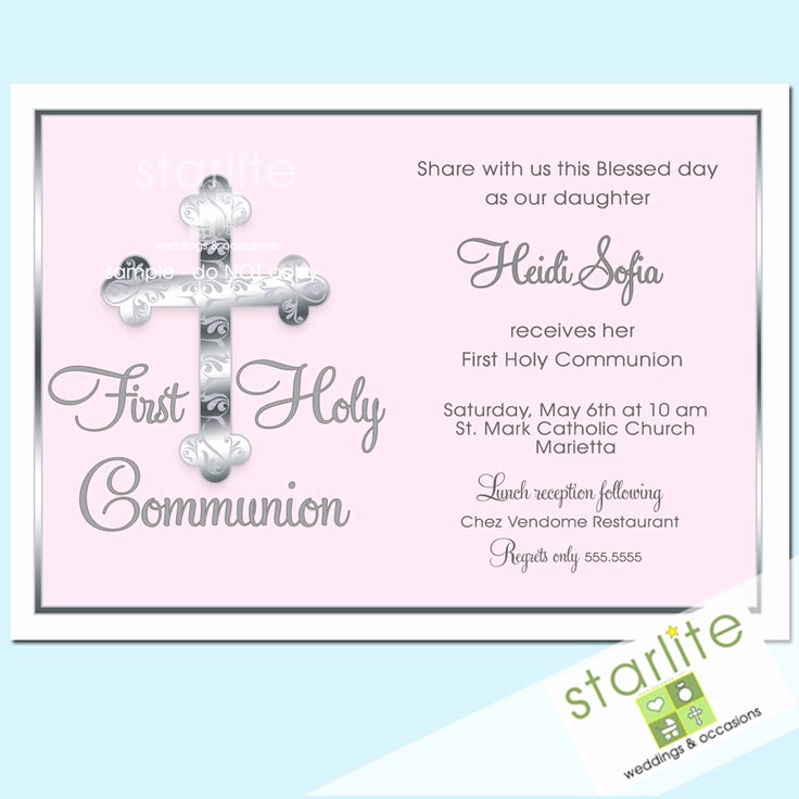 First Communion Invitation Wording Luxury 44 Best Images About First Munion Invitations On