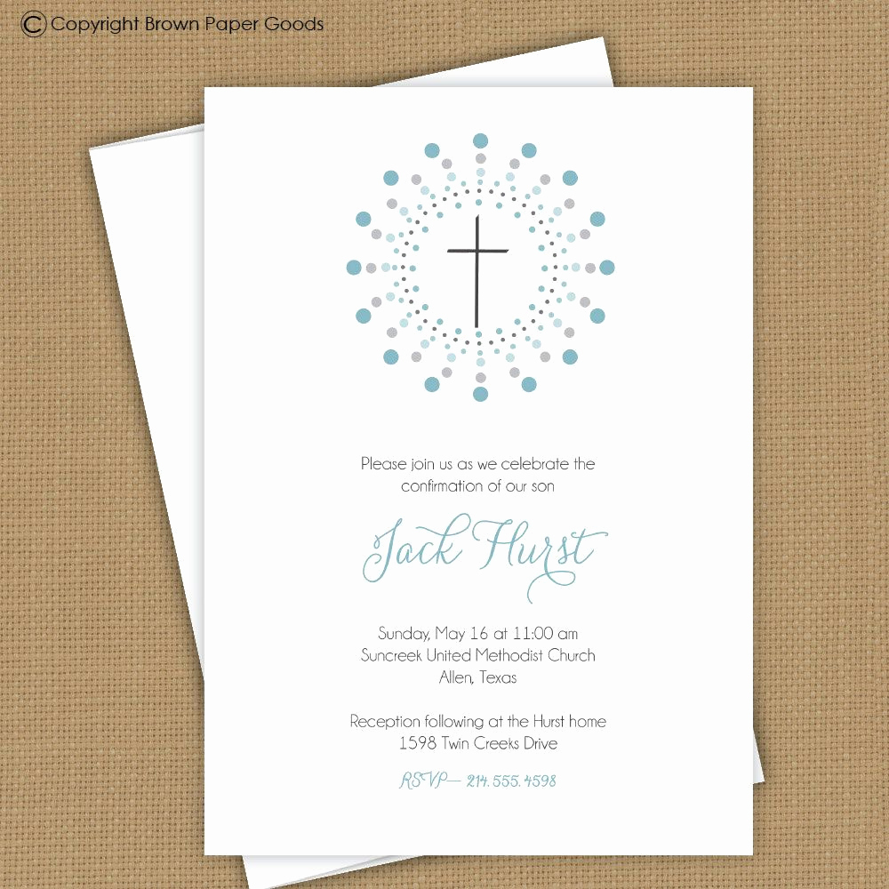 First Communion Invitation Wording Luxury Confirmation Invitation Template