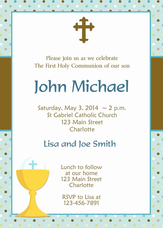 First Holy Communion Invitation Wordings Beautiful First Holy Munion Invitation Boys First Munion