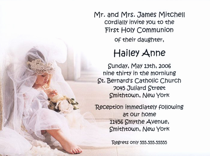 First Holy Communion Invitation Wordings Fresh 17 Best Images About Munion Invitations On Pinterest