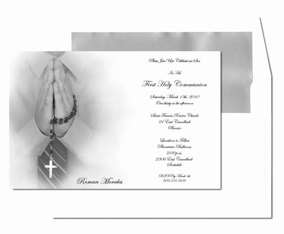 First Holy Communion Invitation Wordings Inspirational First Holy Munion Invitations