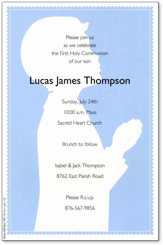 First Holy Communion Invitation Wordings Lovely First Holy Munion Invitations