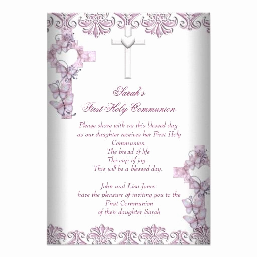 First Holy Communion Invitation Wordings New 17 Best Images About Exceptional Religious Invitations On
