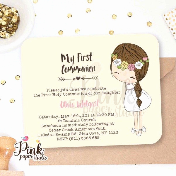 First Holy Communion Invitation Wordings New Best 25 First Munion Invitations Ideas On Pinterest