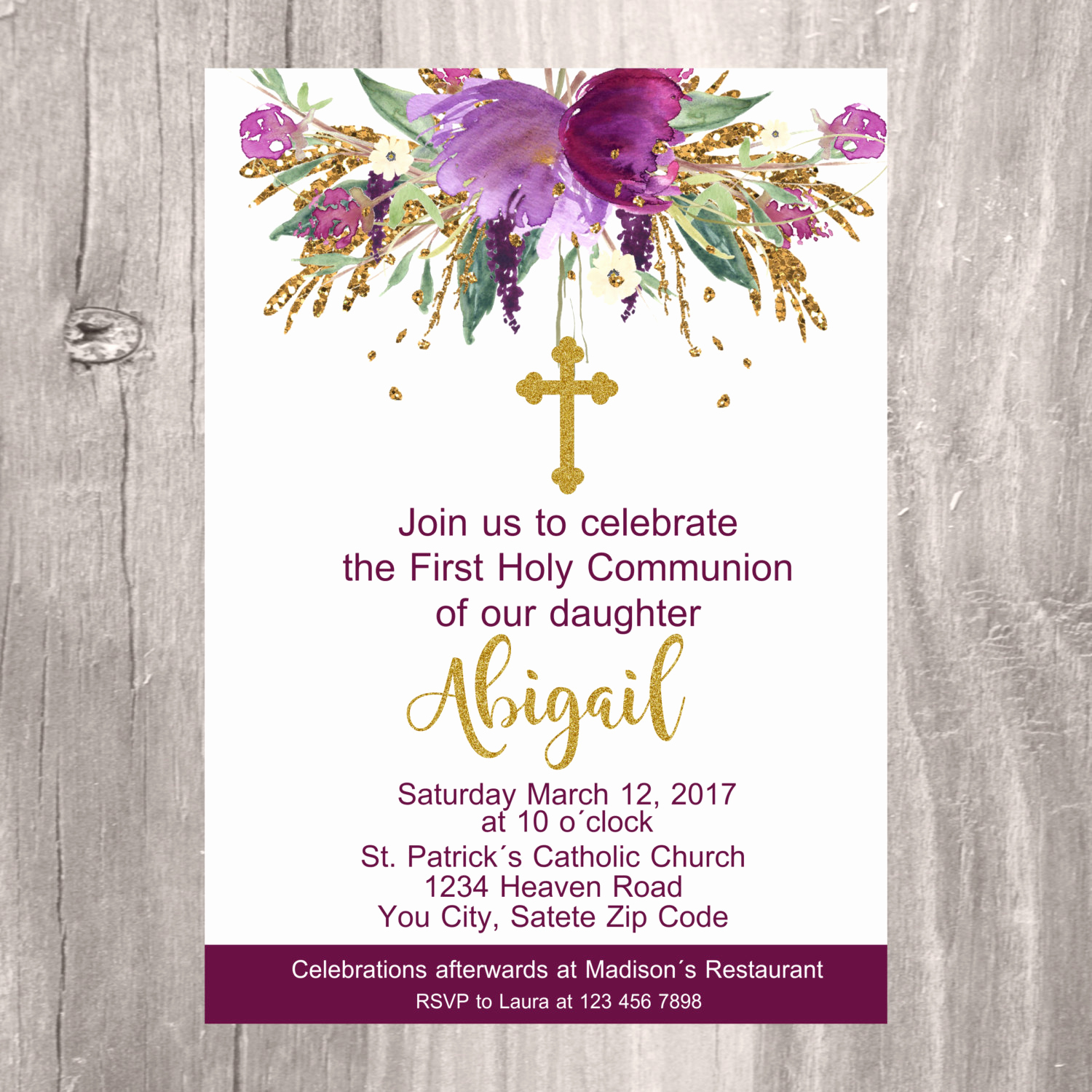 First Holy Communion Invitation Wordings New First Holy Munion Invite Printable Invitation First