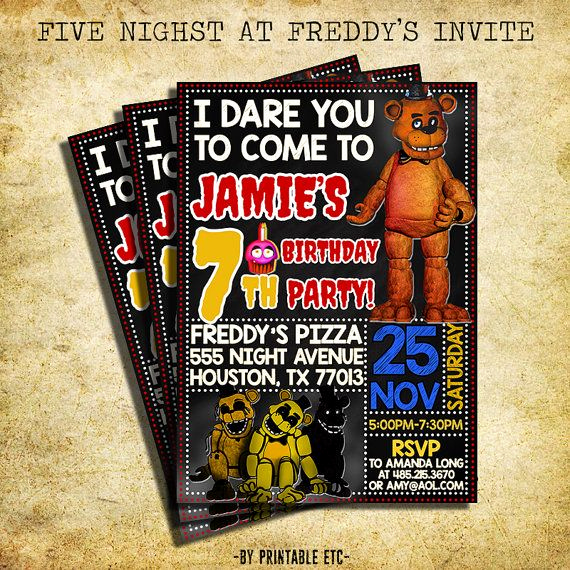 Five Nights at Freddy Invitation New 490 Best Booboo S Bday Bash Images On Pinterest