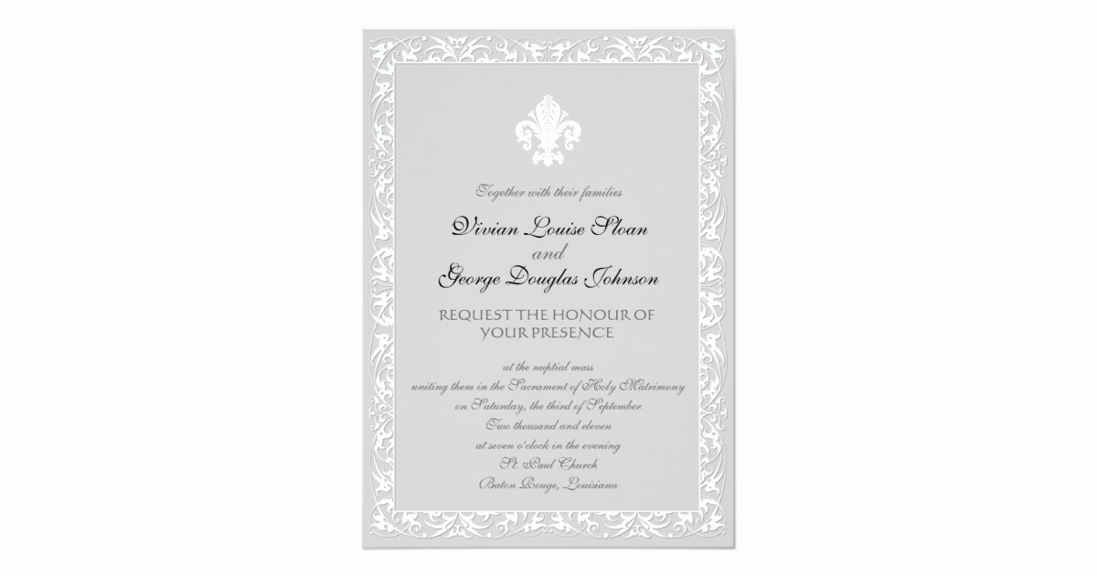 Fleur De Lis Wedding Invitation Awesome Fleur De Lis themed Wedding Invitation
