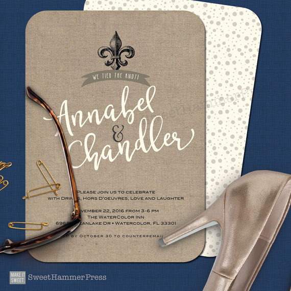 Fleur De Lis Wedding Invitation Awesome Wedding Invitation Fleur De Lis Wedding Elopement Reception