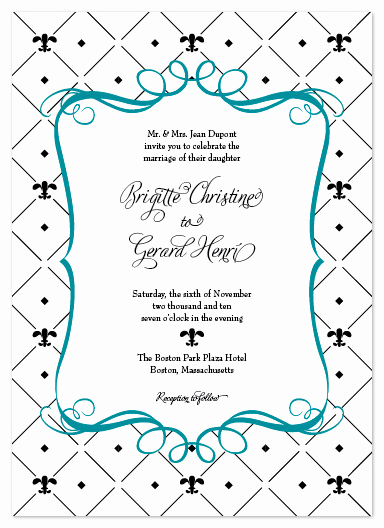 Fleur De Lis Wedding Invitation Awesome Wedding Invitations Fleur De Lis at Minted