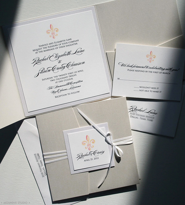 Fleur De Lis Wedding Invitation Fresh Fleur De Lis Invitations