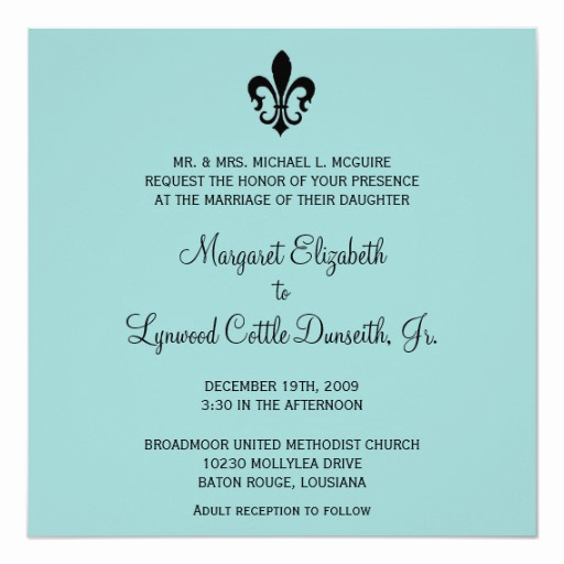 Fleur De Lis Wedding Invitation Lovely Fleur De Lis Wedding Invitation