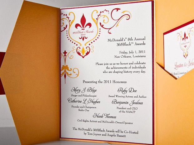 new orleans fleur de lis letterpress light invitation