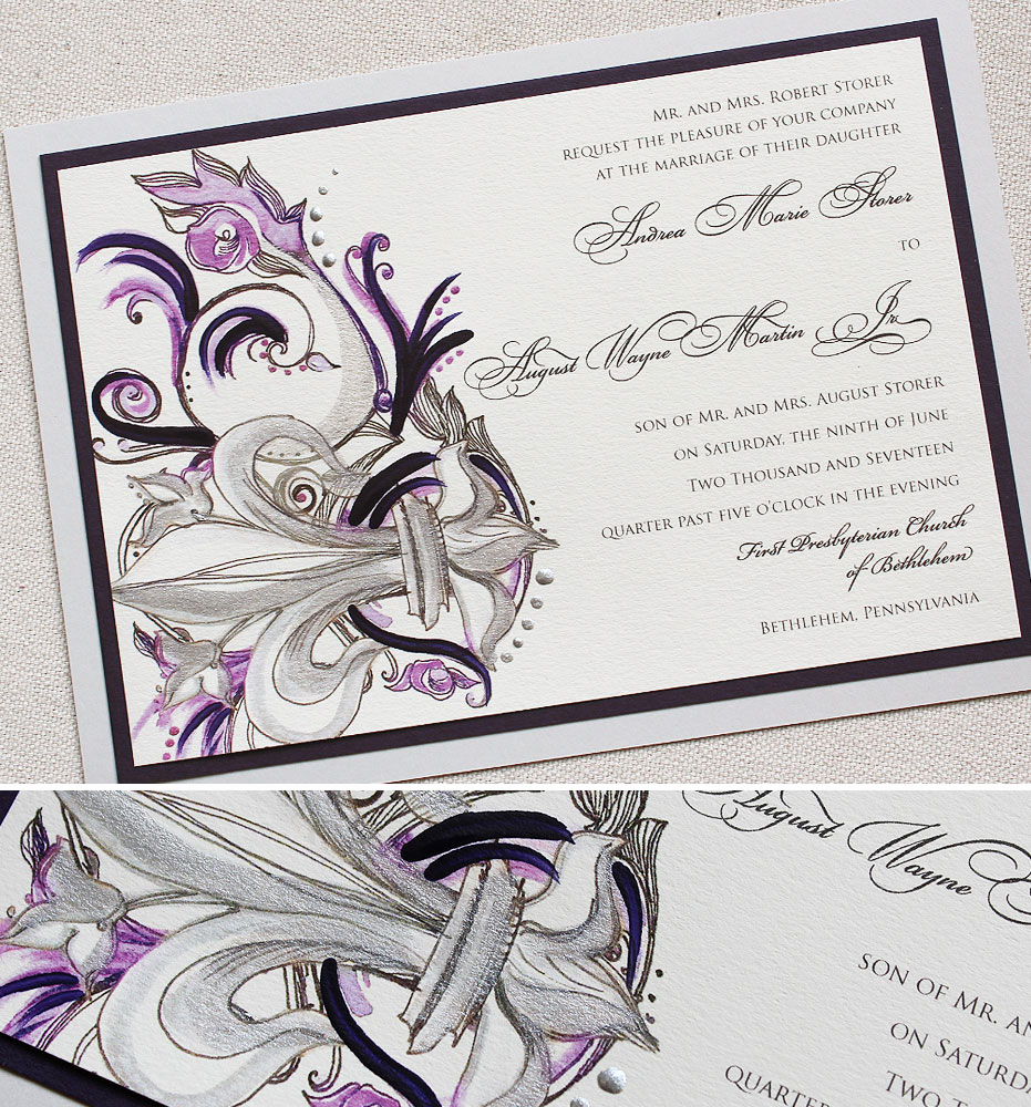 Fleur De Lis Wedding Invitation New andrea S Fleur De Lis Wedding Invitationmomental Designs