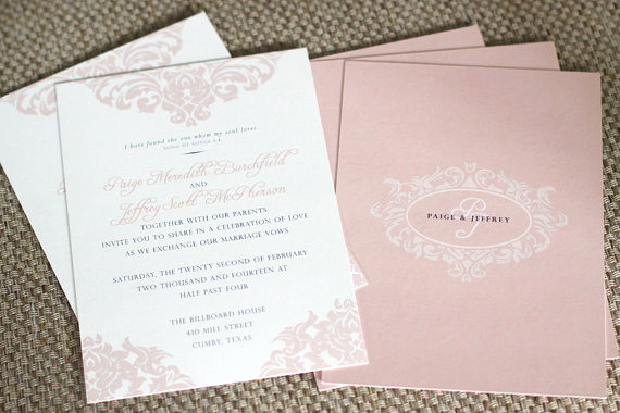 Fleur De Lis Wedding Invitation New Printable Wedding Invitation Fleur De Lis Blush Pink